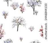 seamless christmas pattern with ... | Shutterstock . vector #1446844133