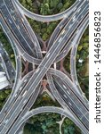 aerial view of highway and... | Shutterstock . vector #1446856823