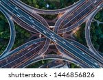 aerial view of highway and... | Shutterstock . vector #1446856826