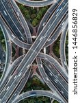 aerial view of highway and... | Shutterstock . vector #1446856829