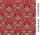 multicolored geometrical floral ... | Shutterstock .eps vector #1446856880