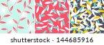 set of elegant floral patterns. ... | Shutterstock .eps vector #144685916