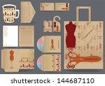 corporate design for artwork... | Shutterstock .eps vector #144687110