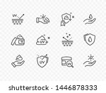 Skin Care Line Icons Isolated...
