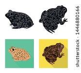 vector illustration of wildlife ... | Shutterstock .eps vector #1446880166