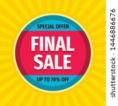 final sale   concept promotion... | Shutterstock .eps vector #1446886676