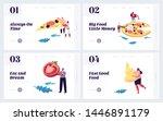 pizzeria website landing page ... | Shutterstock .eps vector #1446891179