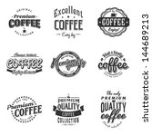 coffee logo shop vintage art... | Shutterstock .eps vector #144689213