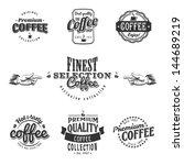 coffee logo shop cafe tea... | Shutterstock .eps vector #144689219