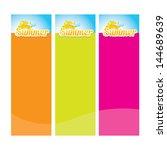 beautiful summer illustrations. ... | Shutterstock .eps vector #144689639