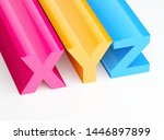 colorful xyz letters 3d render  | Shutterstock . vector #1446897899