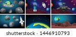 set of space scenes ...   Shutterstock .eps vector #1446910793