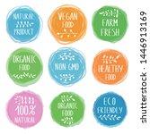 vegetarian food design...   Shutterstock .eps vector #1446913169