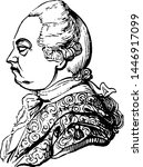 frederic  lord north  earl of... | Shutterstock .eps vector #1446917099