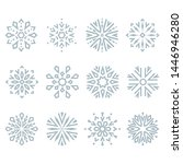 snowflakes icon collection.... | Shutterstock . vector #1446946280
