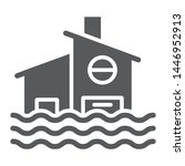 flood glyph icon  disaster and... | Shutterstock .eps vector #1446952913