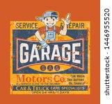 kid motor garage car truck... | Shutterstock .eps vector #1446955520