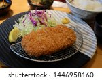 japanese deep fried pork cutlet ... | Shutterstock . vector #1446958160