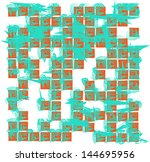 vector seamless simple... | Shutterstock .eps vector #144695956