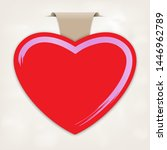 empty paper label with heart... | Shutterstock .eps vector #1446962789