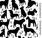 Dog Seamless Design Surface...