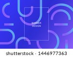 trendy background with colorful ... | Shutterstock .eps vector #1446977363