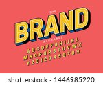 vector of stylized modern font... | Shutterstock .eps vector #1446985220