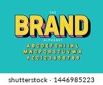 vector of stylized modern font...   Shutterstock .eps vector #1446985223