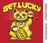 Stock vector get lucky lucky cat vector 1446993083