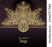 template with luxury mandala... | Shutterstock .eps vector #1446997580