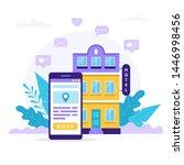 book a hotel  concept...   Shutterstock .eps vector #1446998456