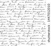 handwritten abstract text... | Shutterstock .eps vector #1447012010