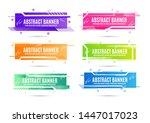 modern abstract banners sign....   Shutterstock .eps vector #1447017023