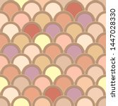 seamless pattern from circles... | Shutterstock .eps vector #1447028330