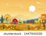 vector autumn panorama...   Shutterstock .eps vector #1447043330