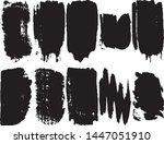 a set of vector grunge brushes. ... | Shutterstock .eps vector #1447051910