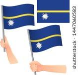 nauru flag in hand. patriotic...   Shutterstock .eps vector #1447060583