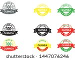 made in guinea collection of... | Shutterstock .eps vector #1447076246