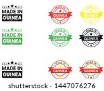 made in guinea collection of... | Shutterstock .eps vector #1447076276