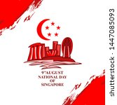 august 9  singapore national... | Shutterstock .eps vector #1447085093