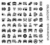 big auto icons set created for... | Shutterstock .eps vector #144709780