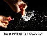water balloon splash   a water...   Shutterstock . vector #1447103729