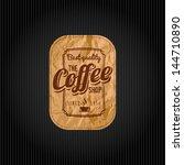 retro vintage coffee background ... | Shutterstock .eps vector #144710890