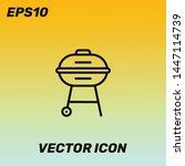 grill symbol vector icon....