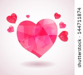 Pink Geometric Heart With...