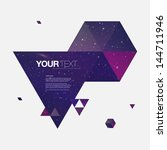 abstract galaxy triangles... | Shutterstock .eps vector #144711946