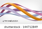 glossy twisted wavy lines or... | Shutterstock .eps vector #144712849