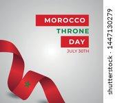 happy kingdom of morocco throne ... | Shutterstock .eps vector #1447130279