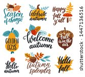 Vector Autumn Set Of Labels An...