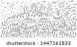 horisontal banner with... | Shutterstock .eps vector #1447161833